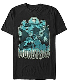 Scooby-Doo Men's Monsters Portrait Short Sleeve T-Shirt