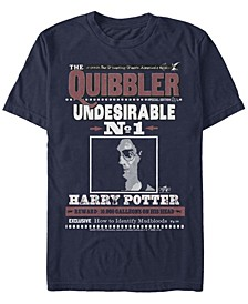 Harry Potter Men's The Quibbler Undesirable Number One Poster Short Sleeve T-Shirt