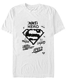 DC Men's Superman Marker Sketch Short Sleeve T-Shirt