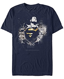 DC Men's Superman Golden Chest Logo Short Sleeve T-Shirt