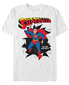 DC Men's Superman Running Pose Short Sleeve T-Shirt