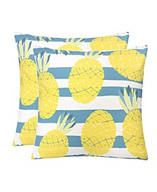 Outdoor Pillow, Pineapple - Set of 2