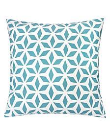 "Samantha Crystal Grid 20"" x 10"" Outdoor Decorative Pillow"