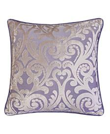 Hailey Modern Velvet Square Decorative Throw Pillow