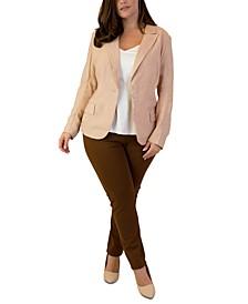 Plus Size Notch-Collar Single-Button Jacket