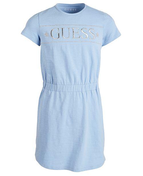 GUESS Big Girls Metallic-Logo Cotton Dress