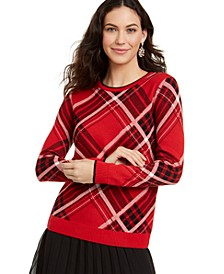 Plaid Crewneck Family Sweater, Created For Macy's