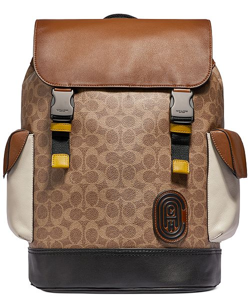 COACH Men's Rivington Signature Backpack