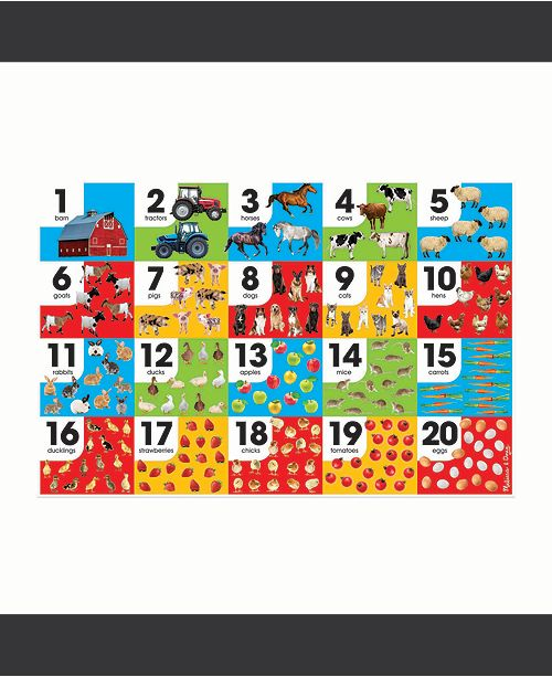 "Melissa and Doug Melissa Doug Farm Number Floor Puzzle Easy-Clean Surface, Promotes Hand-Eye Coordination, 24 Pieces, 36"" L x 24"" W"