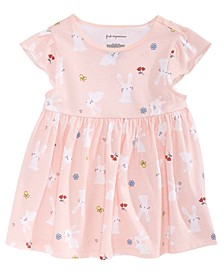 Baby Girls Bunny-Print Cotton Tunic, Created for Macy's