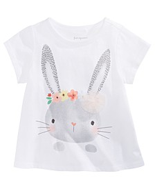 Baby Girls Bunny-Print T-Shirt, Created for Macy's