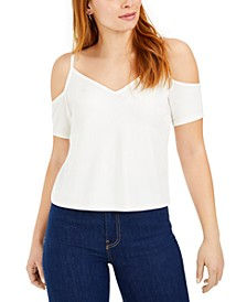 Cold-Shoulder Short-Sleeve Top, Created For Macy's