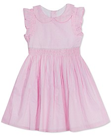 Toddler Girls Smocked Ruffled Dress