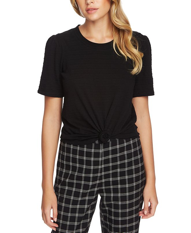 1.STATE Textured Short-Sleeve Top