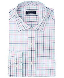 Men's Classic/Regular-Fit Performance Stretch Tattersall Check Dress Shirt, Created for Macy's