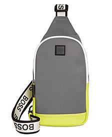 BOSS Men's Hyper Colorblocked One-Strap Mini Backpack