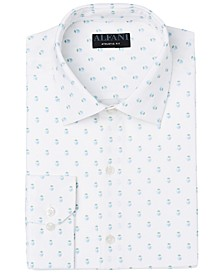 Men's Slim-Fit Geo-Print Dress Shirt, Created for Macy's
