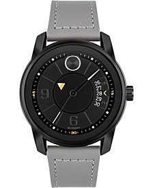 Men's Swiss Bold Gray Leather Strap Watch 42mm, Created for Macy's