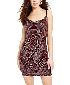 Juniors' Glitter-Print Bodycon Dress