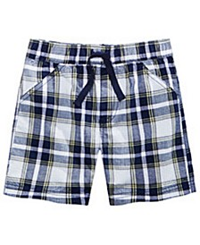 Baby Boys Nautical Plaid Cotton Shorts, Created for Macy's