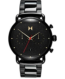 Men's Chronograph Caviar Black Stainless Steel Bracelet Watch 47mm