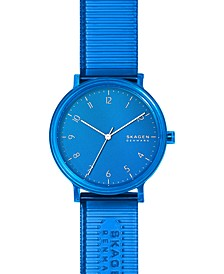 Men's Aaren Transparent Blue Polyurethane Strap Watch 41mm