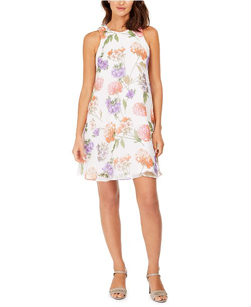 Calvin Klein Scattered Floral Trapeze Dress