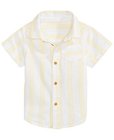 First Impressions Baby Boys Wide Striped Cotton Shirt, Created for Macy's