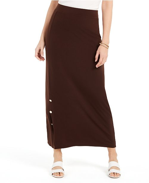 JM Collection Button-Hem Skirt, Created For Macy's