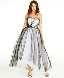 SHOP THE LOOK: Sweetheart-Neck Strapless High-Low Gown & Accessories