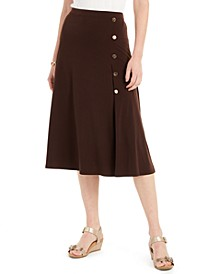 Button-Side Skirt, Created For Macy's