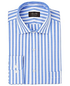 Men's Classic/Regular-Fit Non-Iron Performance Stretch Candy Stripe Supima Cotton Dress Shirt, Created for Macy's