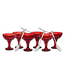 CLOSEOUT! Dublin Red 12 Piece Tasting and Drinking Set