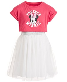 Little Girls Forever Minnie Mesh T-Shirt Dress