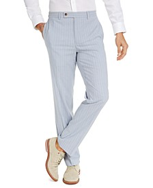 Men's Classic-Fit Stripe Seersucker Dress Pants