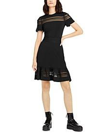 Mesh-Mix Dress, Regular & Petite