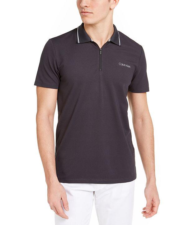Calvin Klein Men's Move 365 Zip Polo Shirt