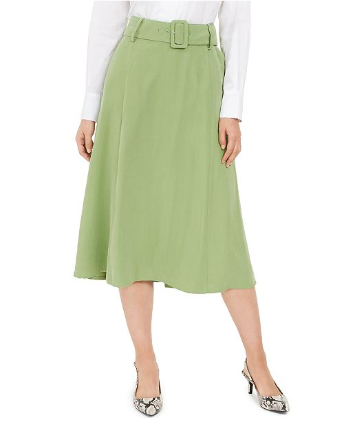Alfani Belted A-Line Skirt, Created for Macy's