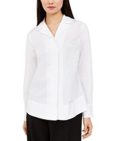 Curved-Hem Button-Up Shirt, Created for Macy's