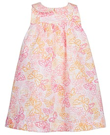 Baby Girls Butterfly-Print Cotton Sundress, Created for Macy's
