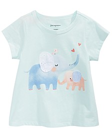 Baby Girls Elephant-Print Cotton T-Shirt, Created for Macy's
