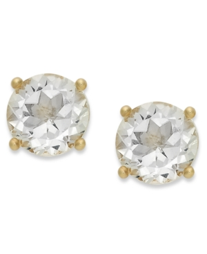 18k Gold over Sterling Sterling Earrings, April's Birthstone White Topaz Stud Earrings (2 ct. t.w.)