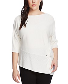 Plus Size Twisted Ribbed Sweater