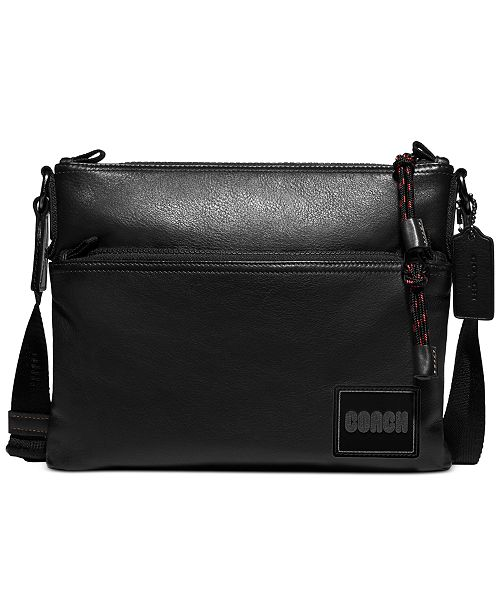 COACH Men's Pacer Leather Crossbody Bag