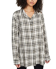 Stone Button-Up Tunic Top