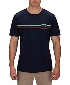 Men's Striped Chest Logo T-Shirt