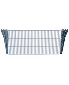 Storability Coated Steel Wire Shelf with Lock-On Hanging Brackets