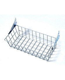 Storability Coated Steel Wire Basket with Lock-On Hanging Brackets