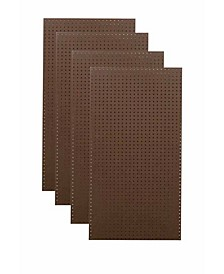 Tempered Wood Pegboard Heavy Duty Brown Commercial Grade Tempered Round Hole Pegboards