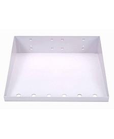 Lochook Powder Coated Locboard Steel Shelf with 6 Holes for Garment Hangers